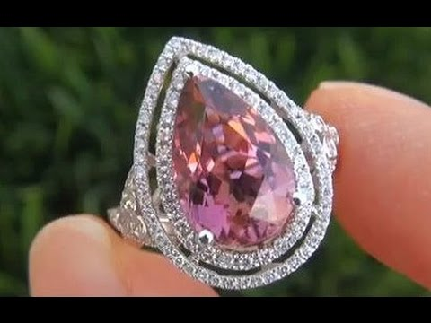Orange County Housewife Auctions FLAWLESS GIA Certified Pink Tourmaline Ring