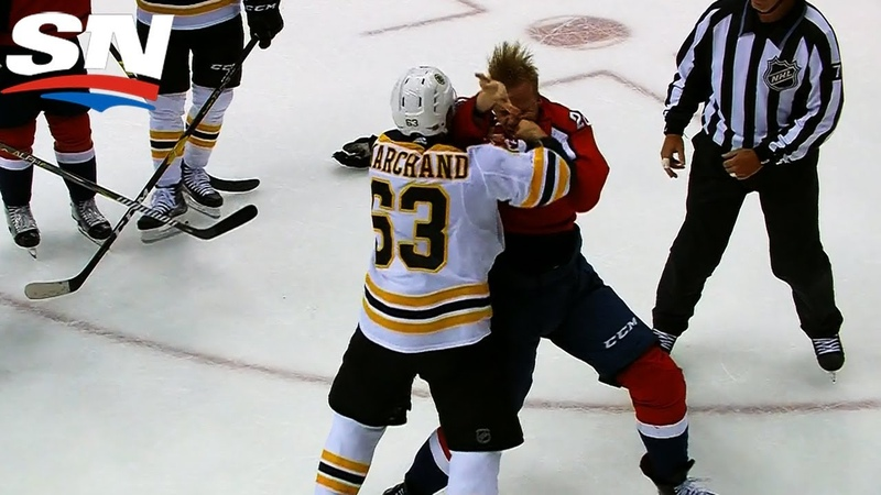 Brad Marchand Feeds Lars Eller Two Skull Crushing Fists For Taunting Bench