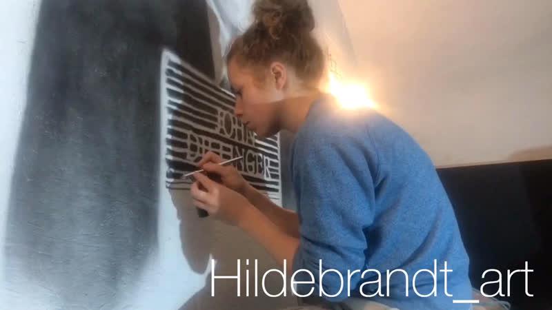 Процесс росписи в кальянной СмокиДжони
