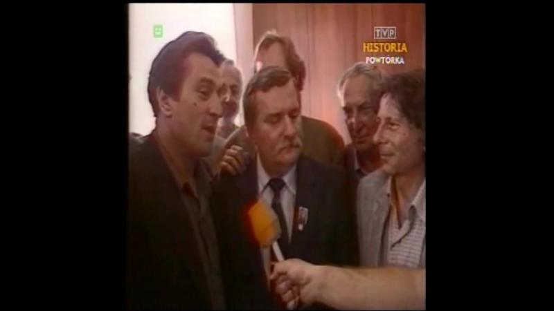 Roman Polański, Robert De Niro, Lech Wałęsa, Gustaw Holoubek, Wojciech Fibak, Gdańsk 1989