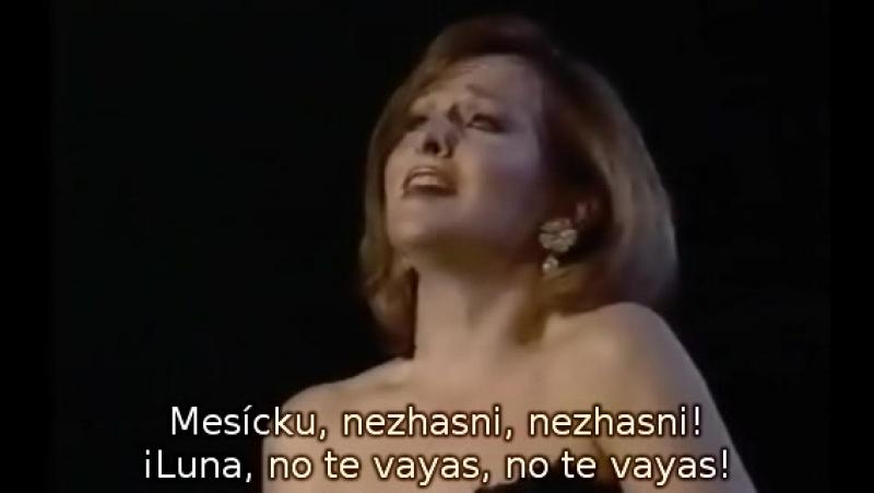 Frederica von Stade - Canción de la Luna de Rusalka de Dvořák (subtítulos español y checo) Praga, 1991.
