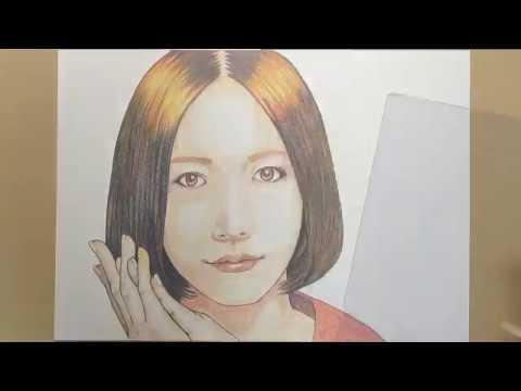 【Speed drawing】色鉛筆でPerfumeを描く【のっち】【大本彩乃】