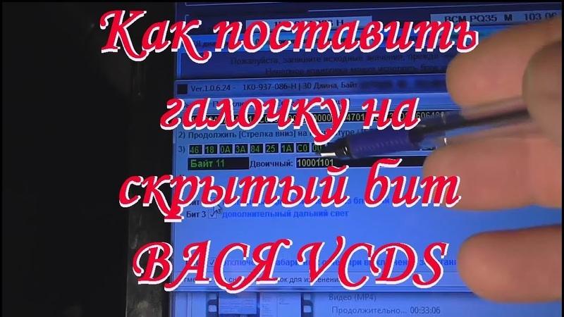 Деактивация ближнего света при постановке на ручник ВАСЯ VCDS