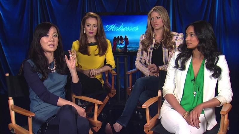 RedCarpetReport Interview @Mistresses ABC @Alyssa Milano YunjinKim @RochelleAytes @JesMacallan