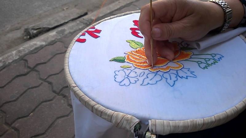 Hướng dẫn sử dụng kim thêu nổi - Punch needle Embroidery