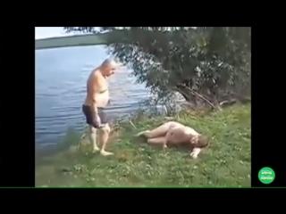 Забавная нарезка драк сельСких Алкашей. Ржач