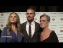 Stephen Amell and Sandra Anne Bolte on the event at Barbara Berlanti Heroes Gala