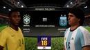 FIFA 18 /МАТЧ ЛЕГЕНД/ БРАЗИЛИЯ - АРГЕНТИНА