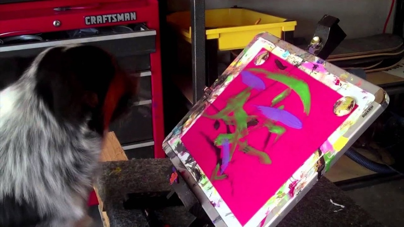 Jumpy the dog painting