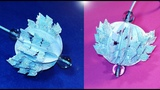 Easy Christmas ornament from paper. Birthday party wall decoration - DIY paper ball.