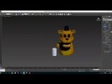 3D Моделирование Золотого Фредди (ФнаФ) Часть 4 (Golden Freddy FNaF)