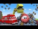 Поезд Трой - Тина в ловушке под обрушившимся зданием! - Автомобильный Город 🚄 детский мультфильм
