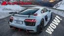 SO SPECIAL! 2018 AUDI R8 V10 PERFORMANCE PARTS climbing the ALPS - Amazing footage - Limited edition