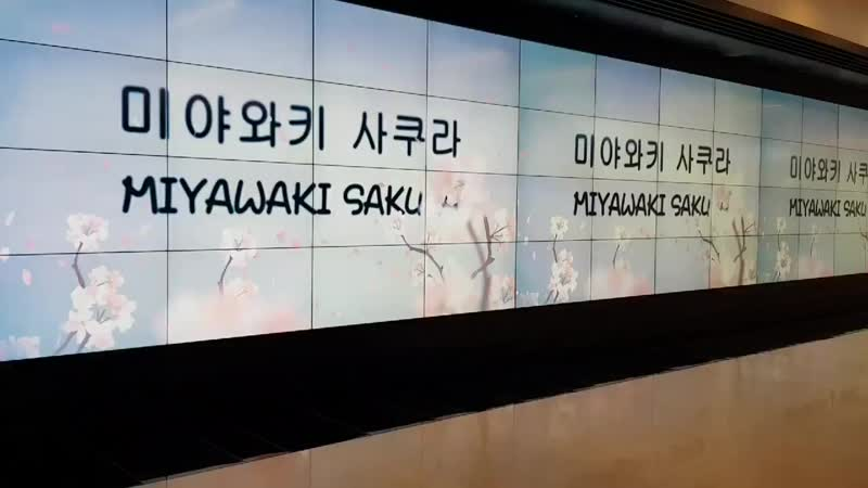 A clearer vid of Sakura debut support in COEX UNDER WORLD PANORAMA