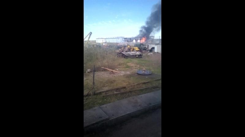 Пожар в воркуте здание у МТС