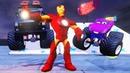 Мультики про машинки Супергерой Железный Человек Тачки 3 Холли монстр трак Мультики для детей