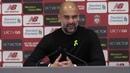 Manchester City 0-0 Liverpool | Pep Guardiola Post Match Press Conference | Premier League