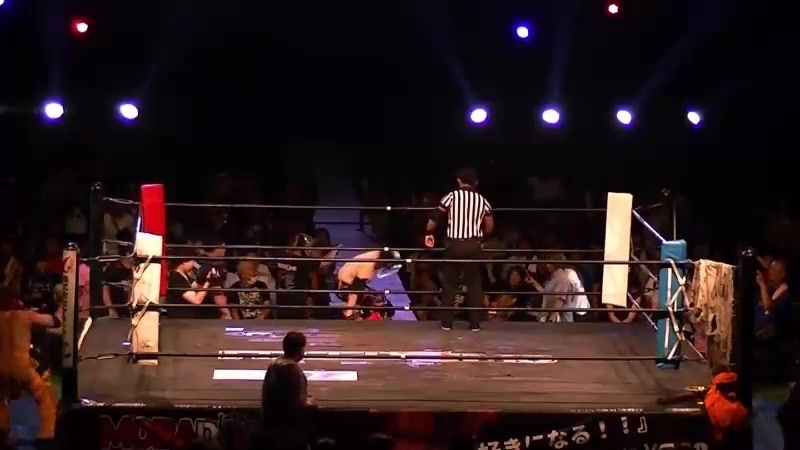 Chikara, Kenji Fukimoto, Minoru Fujita vs. Brahman Kei, Brahman Shu, The Great Sasuke (FREEDOMS - Homecoming Pro-Wrestling Style