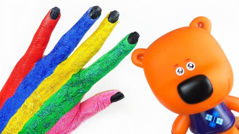 Ми-ми-мишки с игрушками Новая серия Семья блестящих пальчиков для детей