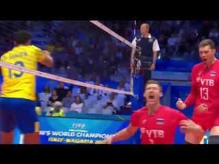 Волков. RUSSIA vs BRAZILIA FIVB Mens World Championship 2018
