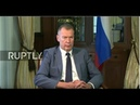 LIVE: Russian OPCW Rep. Shulgin gives statement in The Hague *ENGLISH*