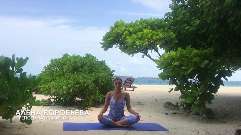 Йога с Алёной Воробьёвой. Женская йога. Брюшное дыхание.