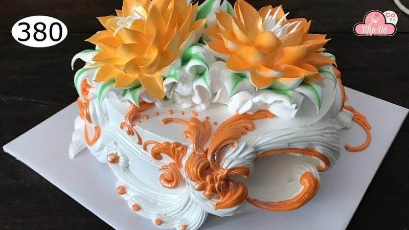 Chocolate cake decorating bettercreme vanilla 380 Học Làm Bánh Kem Đơn Giản Đẹp Sen 380