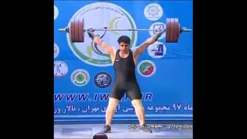 Alireza Soleymani (105kg) snatching 185kg