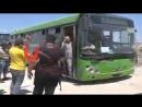 بالفيديو - وصول الدفعة الثانية من اهالي كفريا_والفوعة الى معبر العيس في ريف حلب الجنوبي - يونيوز سوريا