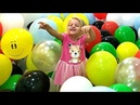 ALISA learns colours dancing in balloons | Nursery Rhymes Kids Song | Fun time with children