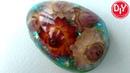 Магнит из эпоксидной смолы в форме яйца с цветами. Форма от киндер сюрприза на Пасху