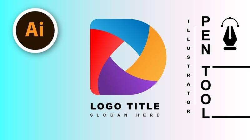 D Letter 3d Logo   illustrator Pen Tool   3D Logo Design Tutorial