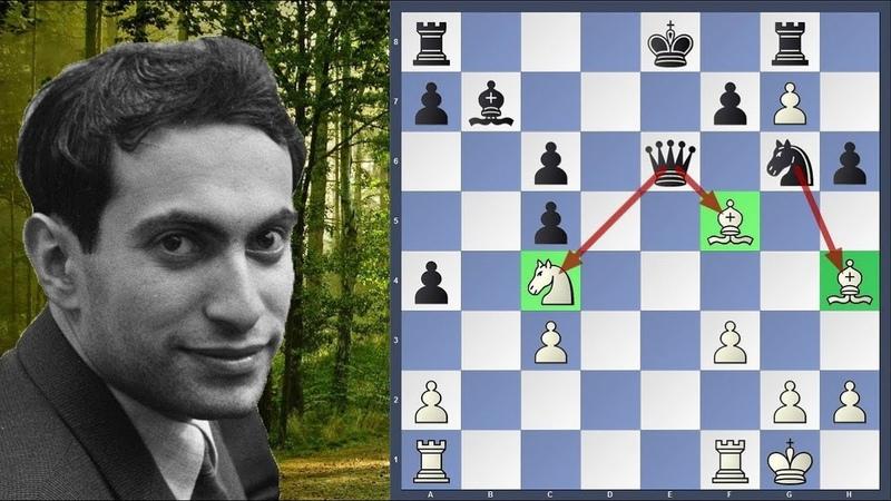 Шахматы УНИКАЛЬНАЯ ПАРТИЯ Михаил Таль жертвует почти ВСЕ СВОИ ФИГУРЫ