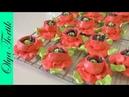 МАКИ из безе подробный рецепт Кремовые цветы Olya Tortik Домашний Кондитер