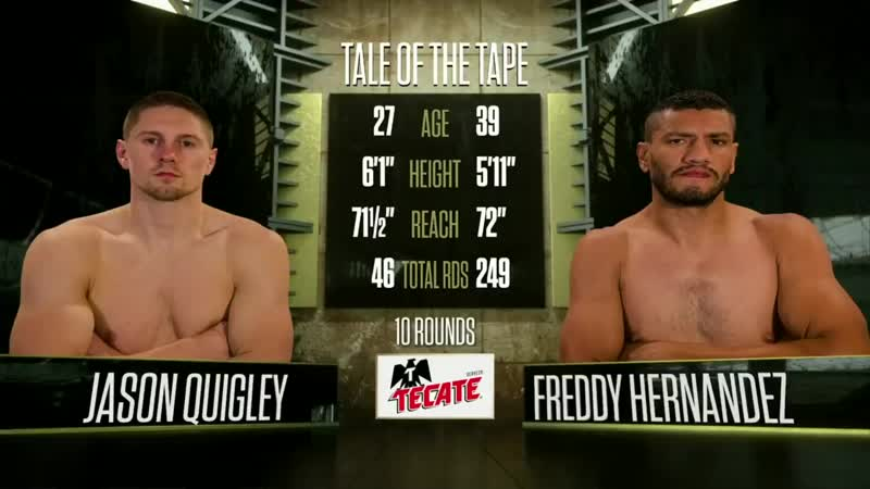 Джейсон Куигли vs Фредди Эрнандес (Jason Quigley vs Freddy Hernandez) 18.10.2018
