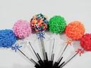 Como fazer ponteira para lápis ou caneta com flor em Eva