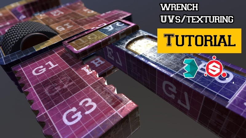 Wrench Tutorial_part 2_Unwrapping in 3Ds Max texturing in Substance painter