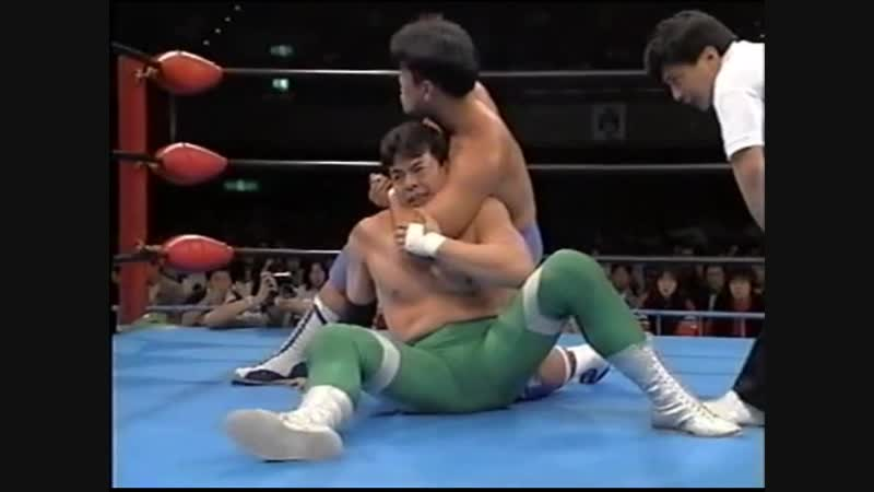 1995.04.08 - Mitsuharu Misawa vs. Jun Akiyama