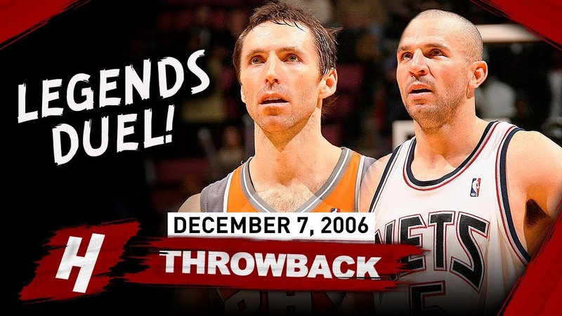 Steve Nash vs Jason Kidd LEGENDS PG Duel Highlights 2006.12.07 - EPIC Scoring Game!