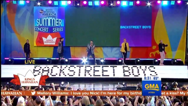 Everybody - Backstreet boys (Live on GMA)