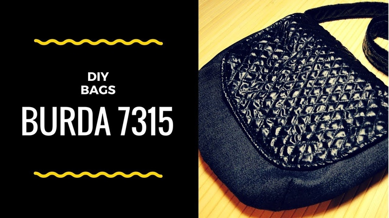 DIY BURDA 7315 BAGS   Сумка через плечо