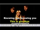 Knowing Me Knowing You - Abba Karaoke with lyrics on the screen