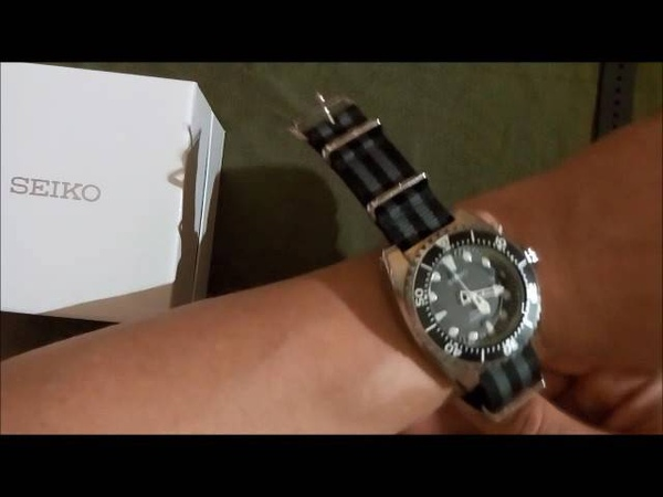 Seiko ska371 ska371p2 kinetic divers nato and zulu straps review