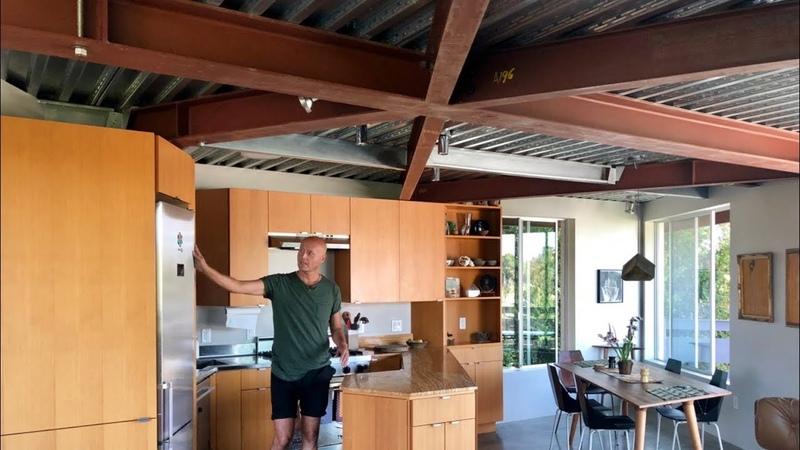 Zen aficionado builds LA modern home atop hill on a modest salary