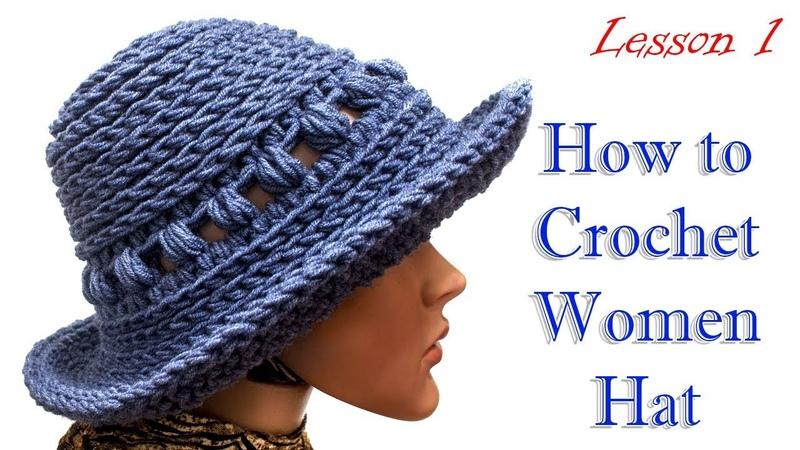 HAT women каквязать шляпу крючком МК 1 Crochet hat