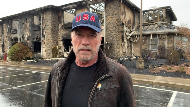 """Arnold Schwarzenegger on Instagram: """"Today in Paradise I saw devastation I met people who have lost everything. But I also saw the spirit of Amer..."""