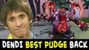 BEST PUDGE is BACK — Dendi VAC blind Hooks