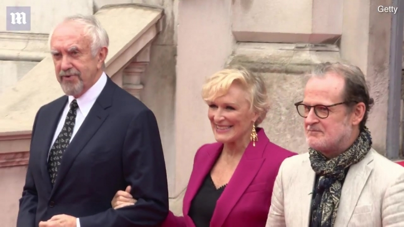 Glenn Close and co-stars hit the red carpet at The Wife premiere at Somerset House on August 9, 2018 in London, England