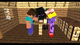 Minecraft Cute Enderman playing with grass block v2 - Benny Hill
