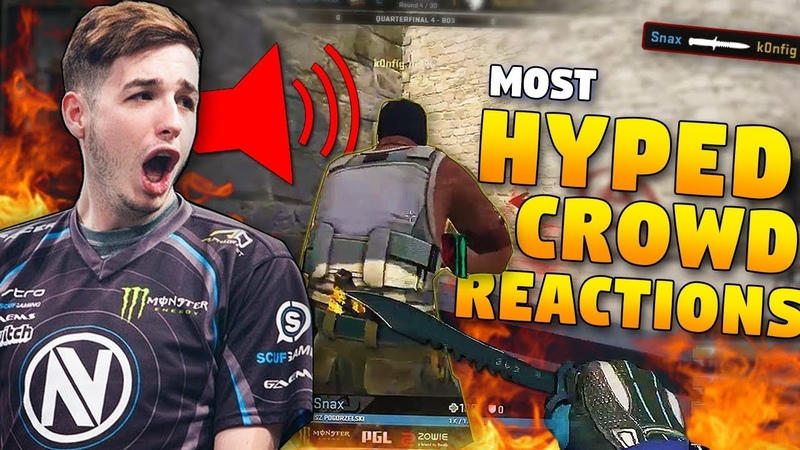 CS:GO - MOST HYPED CROWD REACTIONS to SICK PLAYS! ft. Snax, pasha, Stewie2k More!